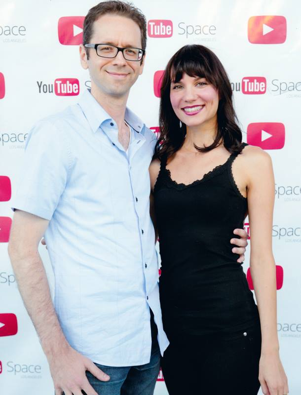 Jessica Remmers and Doug Bresler at the YouTube Space LA.