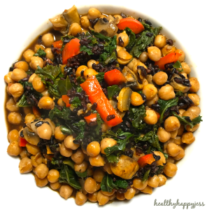 Bowl of Chickpea Mushroom Yumminess